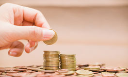 Beelden van Aziatische munten Stock Fotografie