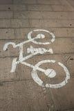 Beelden van de fiets op de weg Stock Afbeeldingen