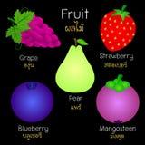 Beelden van diverse vruchten Royalty-vrije Stock Foto's