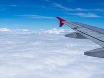 Beelden van een vliegtuigvenster Royalty-vrije Stock Foto's