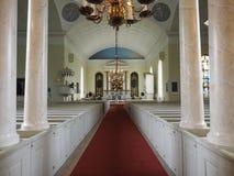 Beelden van het binnenland van de Kathedraal van Oulu stock fotografie