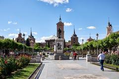 Beelden van oude buurten van Alcala DE Henares, Spanje Royalty-vrije Stock Fotografie