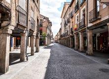 Beelden van oude buurten van Alcala DE Henares, Spanje Royalty-vrije Stock Foto's