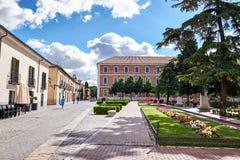 Beelden van oude buurten van Alcala DE Henares, Spanje Royalty-vrije Stock Afbeelding
