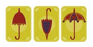 Beelden van paraplu's Royalty-vrije Stock Afbeeldingen