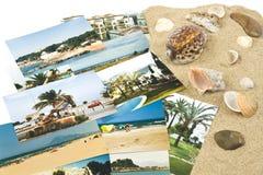 Beelden van vakantie in het zand Royalty-vrije Stock Fotografie