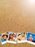 Beelden van vakantiemensen die rust hebben Royalty-vrije Stock Fotografie