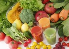 Beelden van vers fruit en groentesappen stock afbeelding
