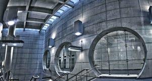 Ondergronds metro van HDR postpanorama Royalty-vrije Stock Fotografie