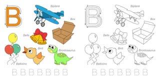 Beelden voor brief B vector illustratie