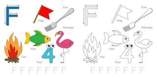 Beelden voor brief F vector illustratie