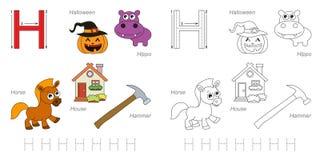 Beelden voor brief H stock illustratie