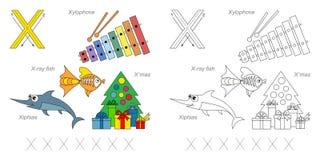 Beelden voor brief X stock illustratie