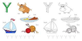 Beelden voor brief Y royalty-vrije illustratie