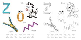Beelden voor brief Z royalty-vrije illustratie