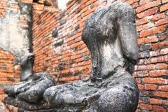 Beelden zonder hoofd en de ongewapende van Boedha Stock Fotografie