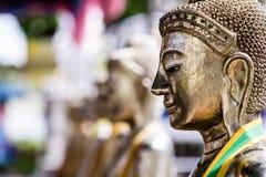 Beeldgezicht van het Standbeeld van Boedha in Thailand Royalty-vrije Stock Afbeeldingen