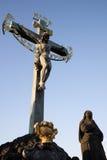 Beeldhouw van het Kruis Calvary Stock Foto