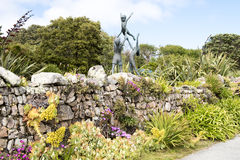 Beeldhouwwerk in Abbey Garden, Scilly-Eilanden stock foto's