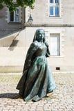 Beeldhouwwerk Anne van Bretagne in Nantes, Frankrijk Stock Afbeelding