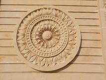 Beeldhouwwerk bij de vihar poort van Anand in Shegaon Stock Afbeeldingen