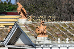 Beeldhouwwerk bij Piazza del Popolo Royalty-vrije Stock Foto