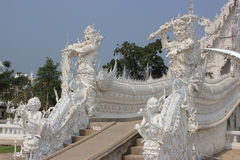 Beeldhouwwerk bij Wat Rong Khun of Witte Tempel, een eigentijdse uncon Royalty-vrije Stock Afbeelding