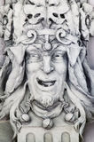 Beeldhouwwerk in de vorm van het hoofd van een nar Royalty-vrije Stock Afbeelding