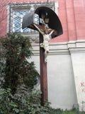 Beeldhouwwerk dichtbij het Carmelite Klooster royalty-vrije stock foto's