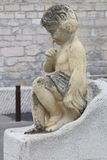 Beeldhouwwerk dichtbij Notre Dame de la Garde in Marseille, Frankrijk Royalty-vrije Stock Foto