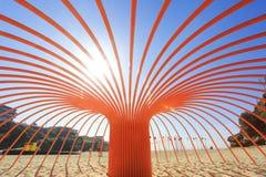 Beeldhouwwerk door het Overzees getiteld Zeeanemoon Royalty-vrije Stock Afbeeldingen