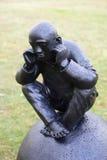 Beeldhouwwerk door het Overzees - Mens op Bal Royalty-vrije Stock Afbeelding