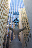 Beeldhouwwerk door Spaanse kunstenaar Joan Miro Royalty-vrije Stock Foto's