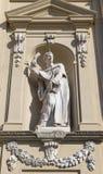 Beeldhouwwerk in het niche_old Dominicaanse klooster van San Marco Royalty-vrije Stock Afbeeldingen