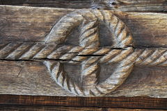 Beeldhouwwerk in hout Royalty-vrije Stock Afbeeldingen