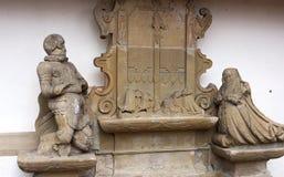 Beeldhouwwerk in Michaels kerk-ii-Waiblingen Royalty-vrije Stock Afbeeldingen