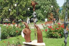 Beeldhouwwerk in Muzeon Art Park Stock Foto