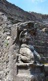 Beeldhouwwerk in odeion-ii-Pompei-Italië Royalty-vrije Stock Foto