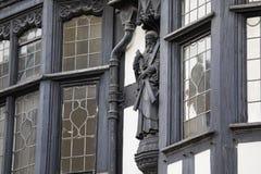Beeldhouwwerk op een Gebouw in de Stad van Chester royalty-vrije stock foto