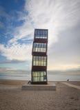 Beeldhouwwerk op het Strand van Barcelona Stock Foto's
