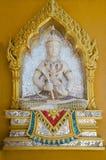 Beeldhouwwerk op muren van buddhistic tempel Royalty-vrije Stock Foto