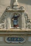 Beeldhouwwerk op watchtower stock afbeelding