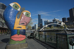 Beeldhouwwerk Ophelia, Southbank, Melbourne, September 2013 Stock Foto