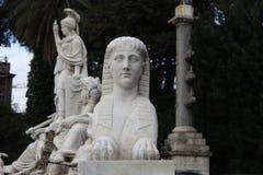 Beeldhouwwerk in Rome Stock Foto