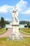 Beeldhouwwerk Scamander (de allegorie van de riviergod Scamander, stroomde, volgens mythologie, door Troy) Italiaanse beeldhouwer Royalty-vrije Stock Foto
