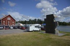 Beeldhouwwerk in Sjötorp, Zweden Royalty-vrije Stock Afbeeldingen