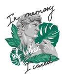 Beeldhouwwerk tropische slogan Perfectioneer voor decor vector illustratie