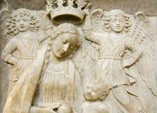 Beeldhouwwerk van Amalfi St.Andrew kathedraal Royalty-vrije Stock Afbeelding
