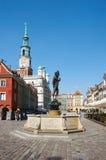 Beeldhouwwerk van Apollo, Oud Marktvierkant poznan Stock Afbeelding