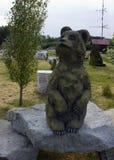 beeldhouwwerk van beer Stock Afbeeldingen